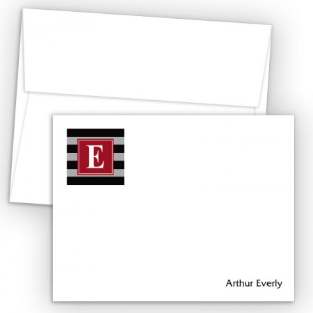 Monogram Flat Note Card 5