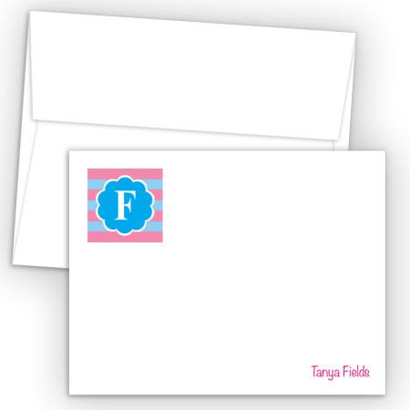 Monogram Flat Note Card 6