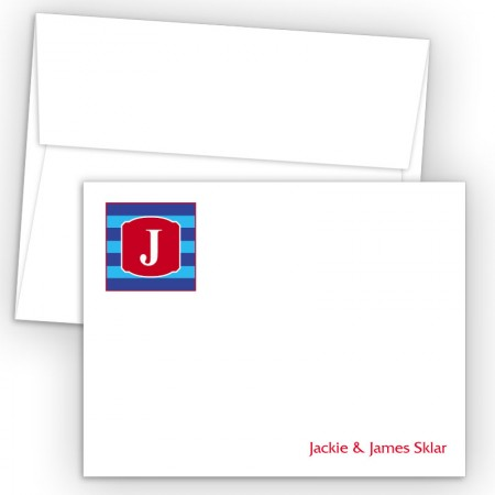 Monogram Flat Note Card 10