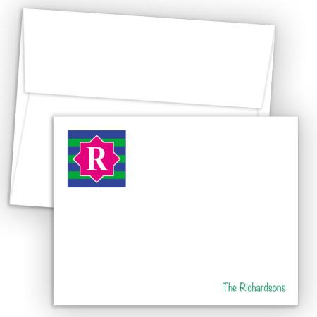 Monogram Flat Note Card 14
