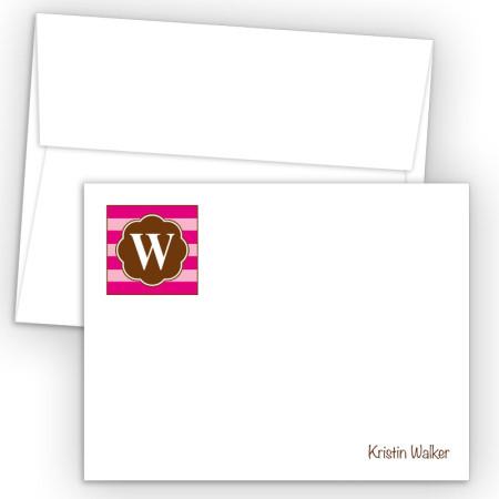 Monogram Flat Note Card 18