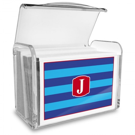 Monogram Fold Over Note Cards 10 with Acrylic Holder