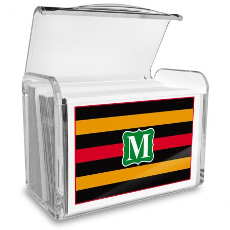 Monogram Fold Over Note Cards 12 with Acrylic Holder
