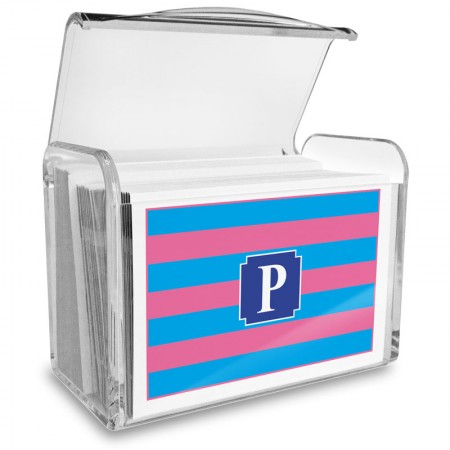 Monogram Fold Over Note Cards 13 with Acrylic Holder