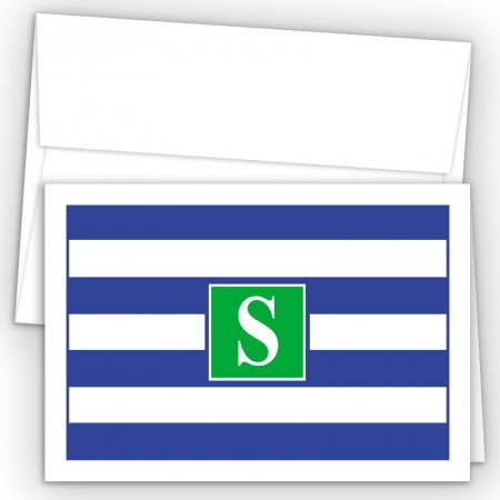 Monogram Fold Over Note Cards 16