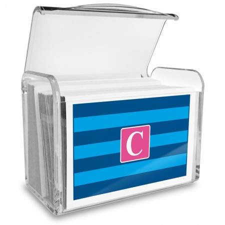 Monogram Fold Over Note Cards 2 with Acrylic Holder