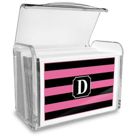 Monogram Fold Over Note Cards 4 with Acrylic Holder