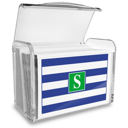 Monogram Fold Over Note Cards 16 with Acrylic Holder