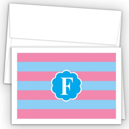 Monogram Fold Over Note Cards 6
