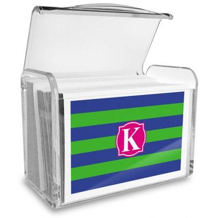 Monogram Fold Over Note Cards 9 with Acrylic Holder