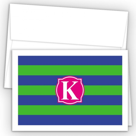 Monogram Fold Over Note Cards 9