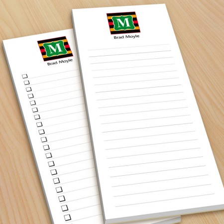 Monogram List Pad 12 - with magnets