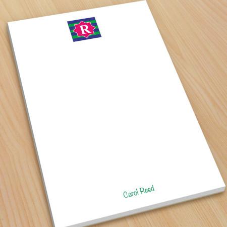 Monogram Note Pad 14 - Large