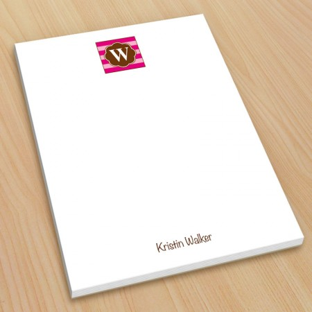 Monogram Note Pad 18 - Small
