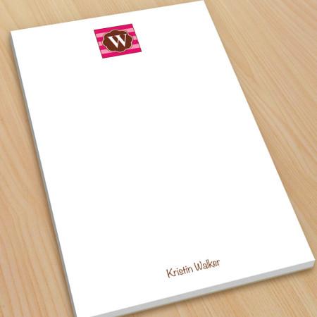 Monogram Note Pad 18 - Large