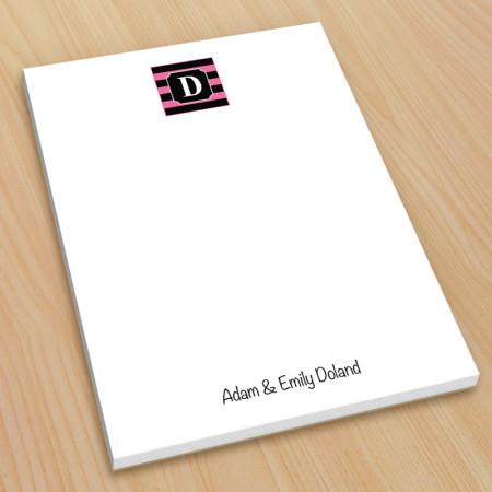 Monogram Note Pad 4 - Small