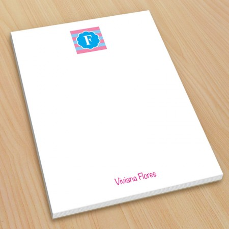 Monogram Note Pad 6 - Small