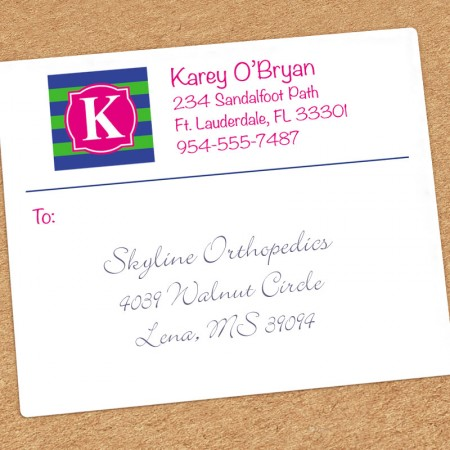 Monogram Shipping Labels 9