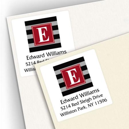 Monogram Square Address Labels 5