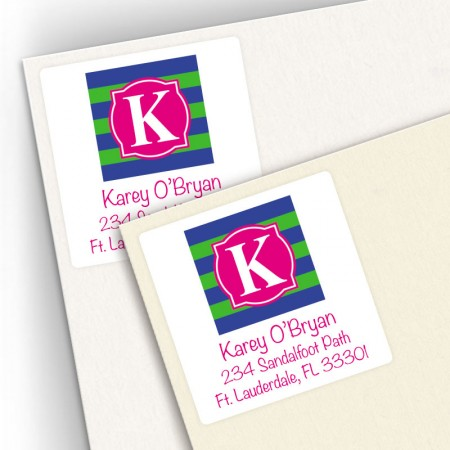 Monogram Square Address Labels 9