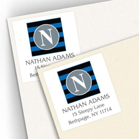 Monogram Square Address Labels 3