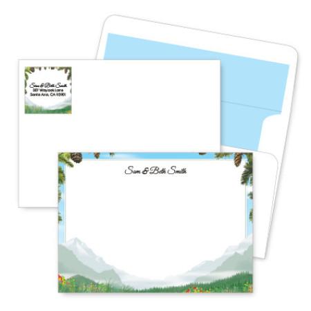Mountain Artistic Correspondence Card Ensembles