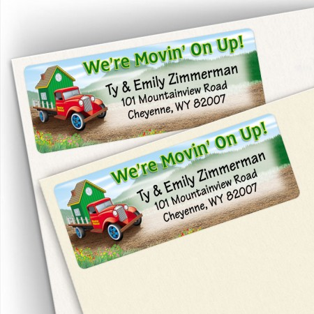 Moving Antique Truck Address Labels