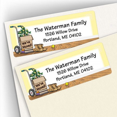 Moving Boxes Address Labels