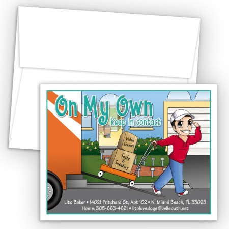 Moving Guy 2 Moving Card