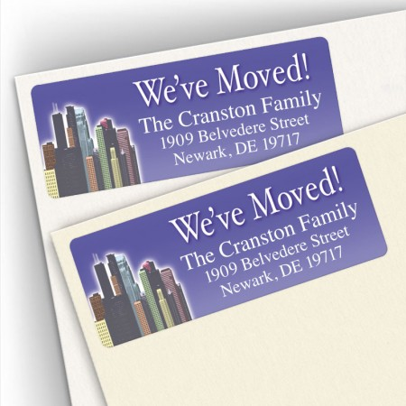 Moving Skyline Address Labels