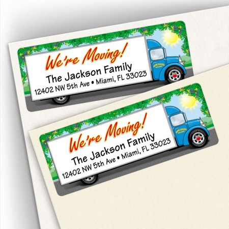 Moving Truck Address Labels