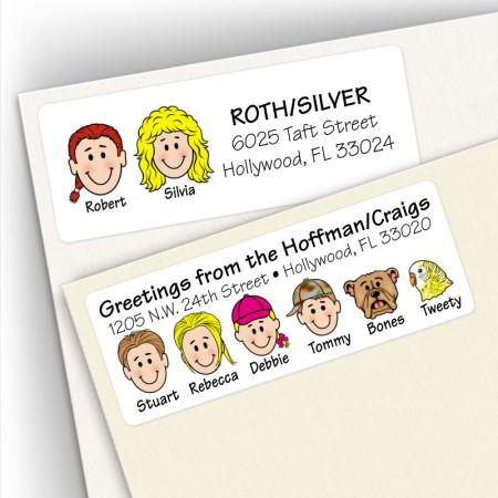 Multiple Last Name Address Label