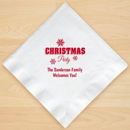 Christmas Napkin Design 11 Personalized Christmas Lunch-Dinner Napkins