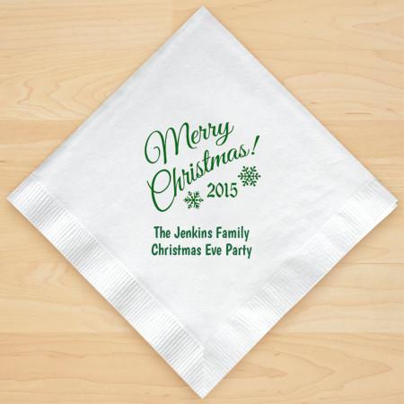 Christmas Napkin Design 16 Personalized Christmas Lunch-Dinner Napkins
