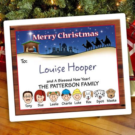 Nativity Christmas Gift Label