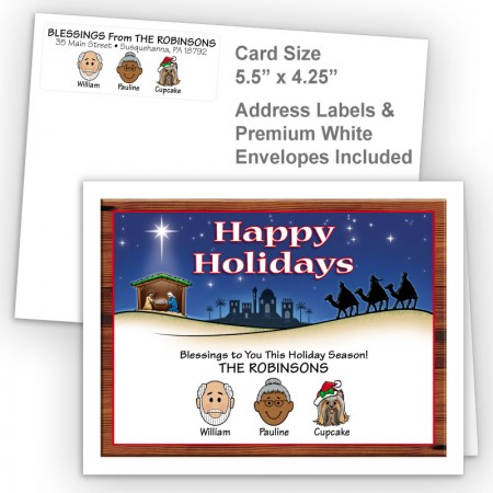 Nativity Happy Holidays Fold Note Set