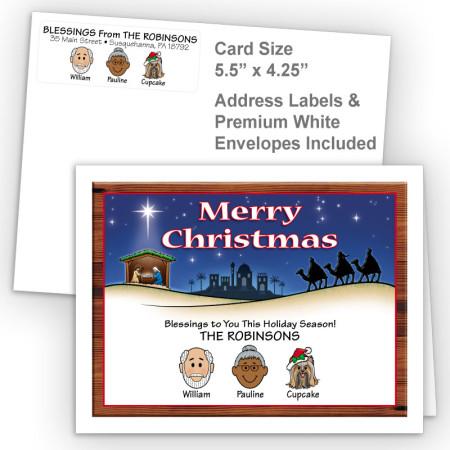 Nativity Merry Christmas Fold Note Set