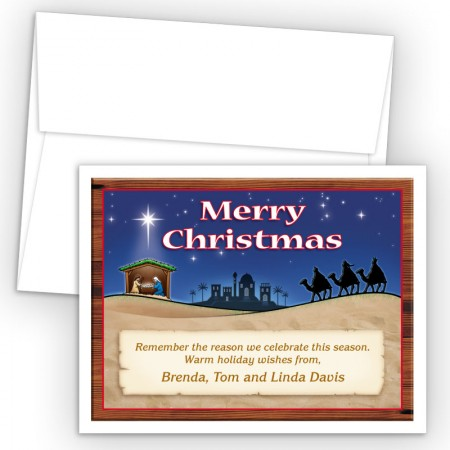 Nativity Merry Christmas Holiday Cards