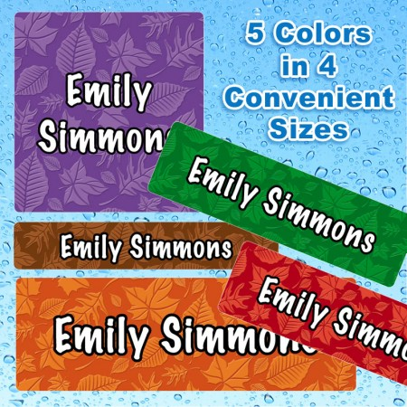 Nature Waterproof Name Labels For Kids