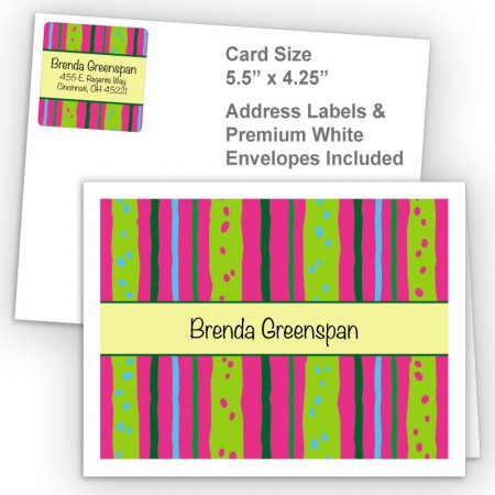 Neon Stripes Thank You Card Package