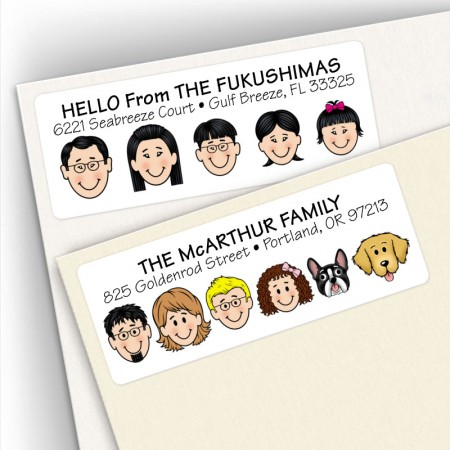 No First Names & Other Ideas Family Address Labels