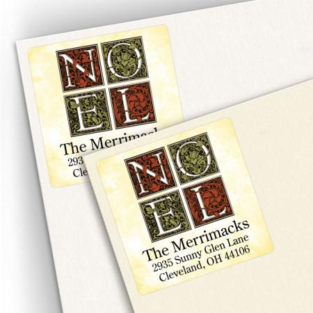 Noel Square Address Labels