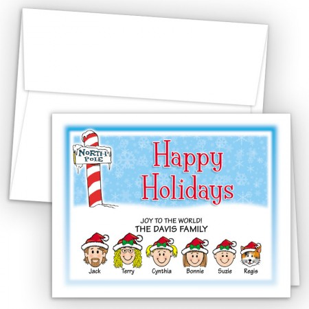 North Pole Happy Holiday Fold Note