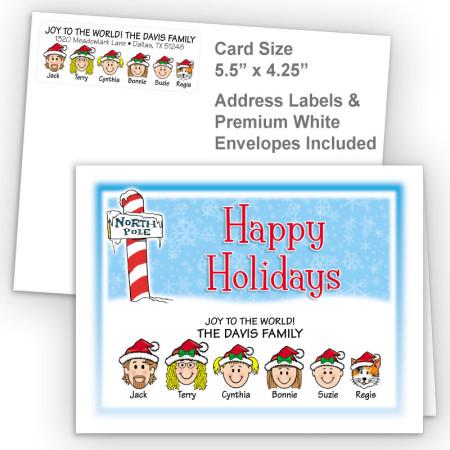 North Pole Happy Holidays Fold Note Set