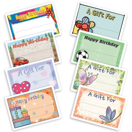 Large Birthday Gift Labels