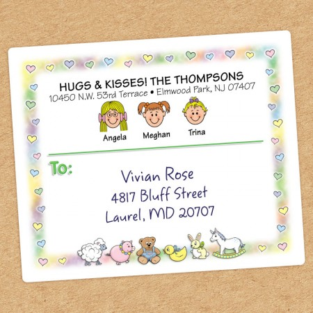 Nursery Family Shipping Labels