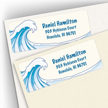 Ocean Wave Address Labels