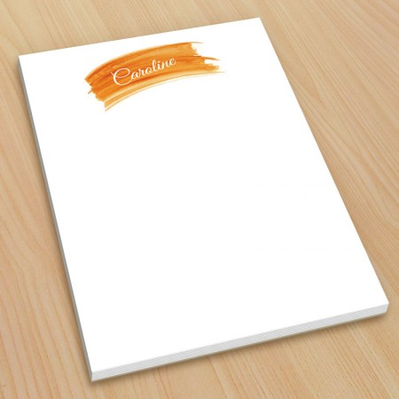 Orange Watercolor Small Note Pads
