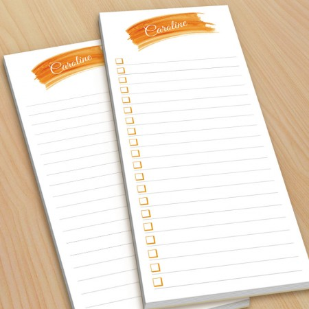 Orange Watercolor To-Do Pads - with magnets
