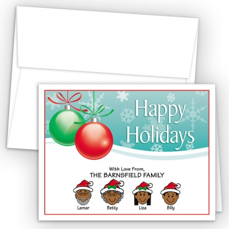 Ornaments 2 Happy Holiday Fold Note